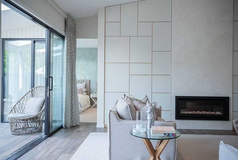 Fireplace surround - Mark Prosser Builders, Venetian Plaster Finish